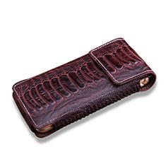 Schutzhülle Flip Tasche Leder Krokodil für Samsung W(2016) Braun