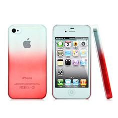 Schutzhülle Handytasche Durchsichtig Farbverlauf für Apple iPhone 4S Rot
