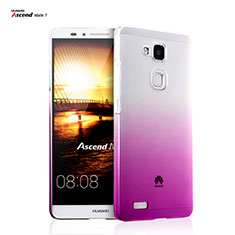 Schutzhülle Handytasche Durchsichtig Farbverlauf für Huawei Mate 7 Pink