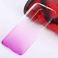 Schutzhülle Handytasche Durchsichtig Farbverlauf für Motorola Moto X Style Rosa