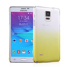 Schutzhülle Handytasche Durchsichtig Farbverlauf für Samsung Galaxy Note 4 SM-N910F Gelb