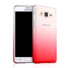 Schutzhülle Handytasche Durchsichtig Farbverlauf für Samsung Galaxy On5 G550FY Rot