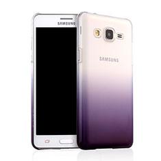 Schutzhülle Handytasche Durchsichtig Farbverlauf für Samsung Galaxy On5 G550FY Violett