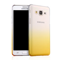 Schutzhülle Handytasche Durchsichtig Farbverlauf für Samsung Galaxy On5 Pro Gelb
