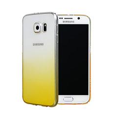 Schutzhülle Handytasche Durchsichtig Farbverlauf für Samsung Galaxy S6 SM-G920 Gelb