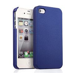 Schutzhülle Kunststoff Hülle Matt für Apple iPhone 4 Blau