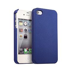 Schutzhülle Kunststoff Hülle Matt für Apple iPhone 4S Blau