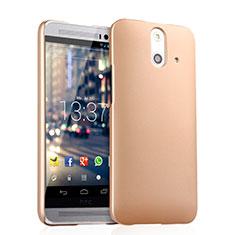 Schutzhülle Kunststoff Hülle Matt für HTC One E8 Gold