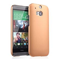 Schutzhülle Kunststoff Hülle Matt für HTC One M8 Gold