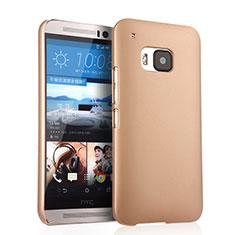 Schutzhülle Kunststoff Hülle Matt für HTC One M9 Gold