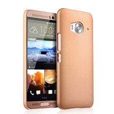 Schutzhülle Kunststoff Hülle Matt für HTC One Me Gold