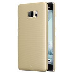 Schutzhülle Kunststoff Hülle Matt für HTC U Ultra Gold