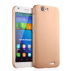 Schutzhülle Kunststoff Hülle Matt für Huawei Ascend G7 Gold