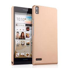 Schutzhülle Kunststoff Hülle Matt für Huawei Ascend P6 Gold