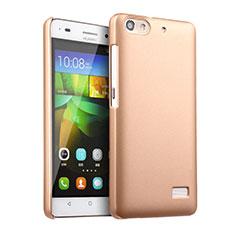 Schutzhülle Kunststoff Hülle Matt für Huawei G Play Mini Gold