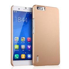 Schutzhülle Kunststoff Hülle Matt für Huawei Honor 6 Plus Gold
