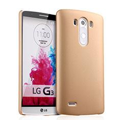 Schutzhülle Kunststoff Hülle Matt für LG G3 Gold