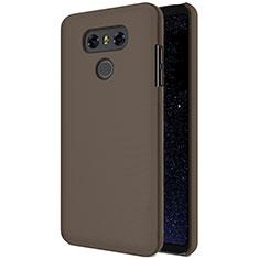 Schutzhülle Kunststoff Hülle Matt für LG G6 Braun