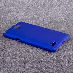 Schutzhülle Kunststoff Hülle Matt für LG L Bello 2 Blau