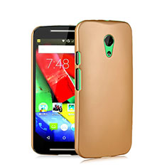 Schutzhülle Kunststoff Hülle Matt für Motorola Moto G (2nd Gen) Gold