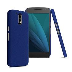Schutzhülle Kunststoff Hülle Matt für Motorola Moto G4 Plus Blau