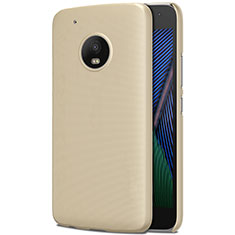 Schutzhülle Kunststoff Hülle Matt für Motorola Moto G5 Plus Gold
