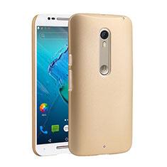 Schutzhülle Kunststoff Hülle Matt für Motorola Moto X Style Gold