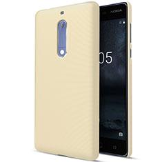 Schutzhülle Kunststoff Hülle Matt für Nokia 5 Gold
