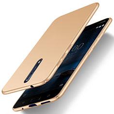 Schutzhülle Kunststoff Hülle Matt für Nokia 8 Gold