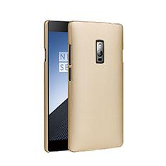Schutzhülle Kunststoff Hülle Matt für OnePlus 2 Gold