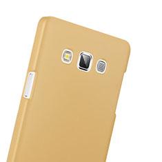 Schutzhülle Kunststoff Hülle Matt für Samsung Galaxy A3 SM-300F Gold