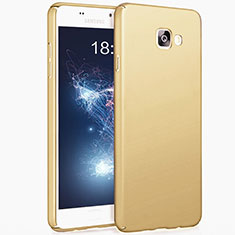 Schutzhülle Kunststoff Hülle Matt für Samsung Galaxy A7 (2017) A720F Gold