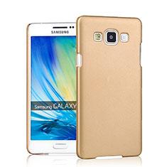 Schutzhülle Kunststoff Hülle Matt für Samsung Galaxy A7 SM-A700 Gold