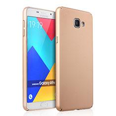 Schutzhülle Kunststoff Hülle Matt für Samsung Galaxy A9 Pro (2016) SM-A9100 Gold