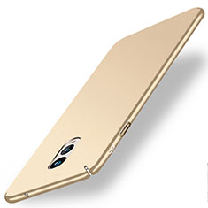 Schutzhülle Kunststoff Hülle Matt für Samsung Galaxy C7 (2017) Gold