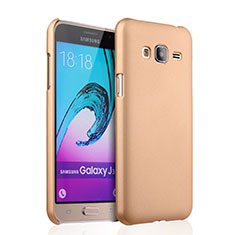 Schutzhülle Kunststoff Hülle Matt für Samsung Galaxy J3 (2016) J320F J3109 Gold