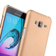 Schutzhülle Kunststoff Hülle Matt für Samsung Galaxy J3 Gold