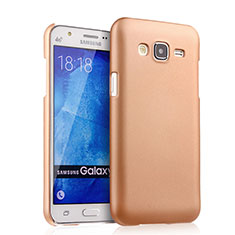 Schutzhülle Kunststoff Hülle Matt für Samsung Galaxy J5 SM-J500F Gold