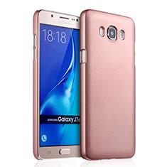 Schutzhülle Kunststoff Hülle Matt für Samsung Galaxy J7 (2016) J710F J710FN Rosegold
