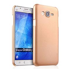 Schutzhülle Kunststoff Hülle Matt für Samsung Galaxy J7 SM-J700F J700H Gold
