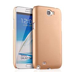 Schutzhülle Kunststoff Hülle Matt für Samsung Galaxy Note 2 N7100 N7105 Gold