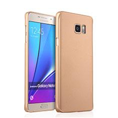 Schutzhülle Kunststoff Hülle Matt für Samsung Galaxy Note 5 N9200 N920 N920F Gold