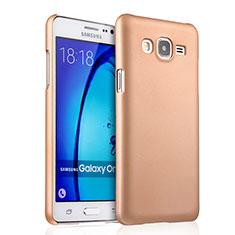 Schutzhülle Kunststoff Hülle Matt für Samsung Galaxy On5 Pro Gold