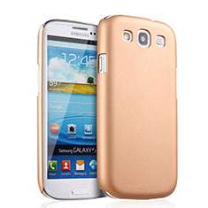 Schutzhülle Kunststoff Hülle Matt für Samsung Galaxy S3 i9300 Gold