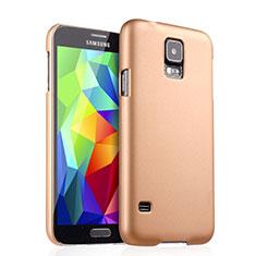 Schutzhülle Kunststoff Hülle Matt für Samsung Galaxy S5 G900F G903F Gold
