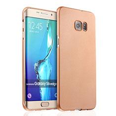Schutzhülle Kunststoff Hülle Matt für Samsung Galaxy S6 Edge+ Plus SM-G928F Gold