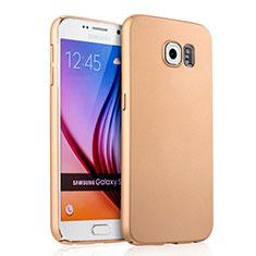 Schutzhülle Kunststoff Hülle Matt für Samsung Galaxy S6 SM-G920 Gold