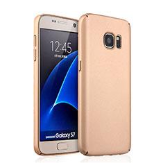 Schutzhülle Kunststoff Hülle Matt für Samsung Galaxy S7 G930F G930FD Gold