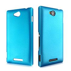 Schutzhülle Kunststoff Hülle Matt für Sony Xperia C S39h Hellblau