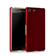 Schutzhülle Kunststoff Hülle Matt für Sony Xperia M5 Rot